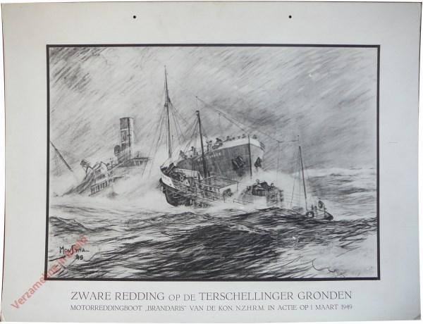 Zware redding op de Terschellinger gronden